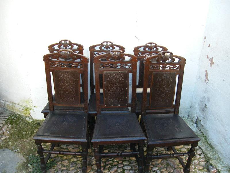 Juego de seis sillas modernistas cosas del abuelo for Muebles modernistas