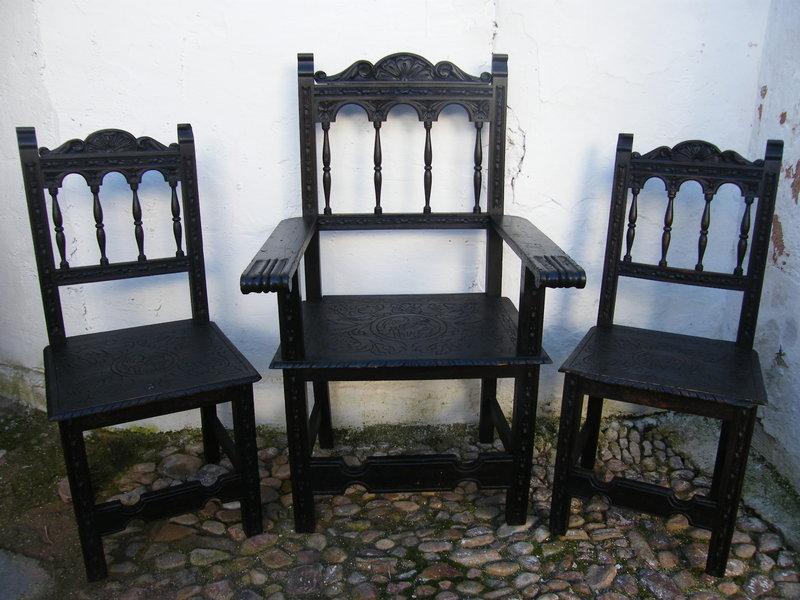 Juego de sillas despacho cosas del abuelo for Sillas despacho