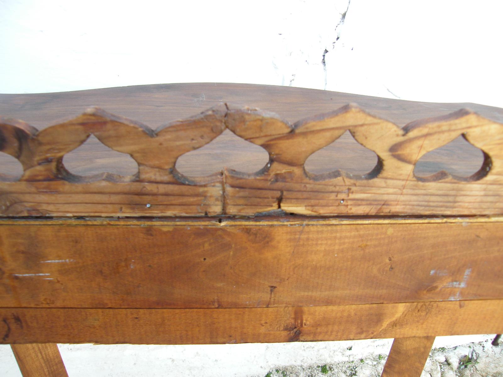 Consola de madera cosas del abuelo for Consolas antiguas muebles